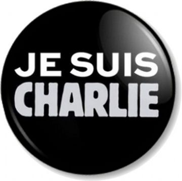 JE SUIS CHARLIE Pinback Button Badge Protest I AM Charlie Hebdo Paris France Show of Support